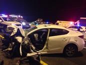 רכב המשטרה שהתנגש ברכב של הקשיש