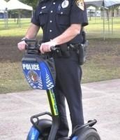 Cop on wheels