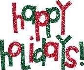 Enjoy the Holidays!
