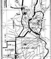 Mapa de las colonias judías