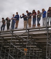 Mrs. Gonzales' Science Students Conducting Egg Drop Lab!