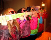 Snap: Doing a shot ski with you coworkers
