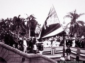 The Hawaiian Flag Being Lowered