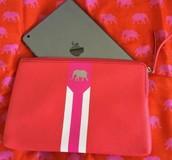 Capri Pouch - Hot Pink/Poppy