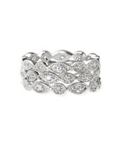 Stackable Deco Rings in Silver - Size 7 {Was $49 - Now $25}