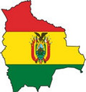Bolivia's Flag And Map