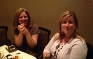 Mrs. Ingram enjoying dinner out with the Leon District Media Association