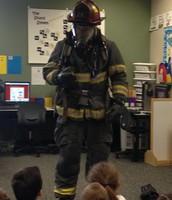 Firefighter Scott visited our class!