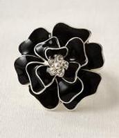 Black Flower Brooch