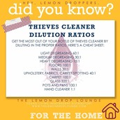 Thieves Household Cleaner Dilution Ratios