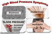 The warning signs of the high blood pressure.
