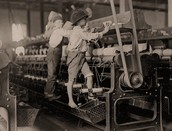 kids working in an factory