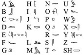 the hieroglyph alpabet