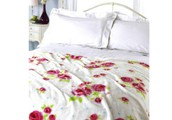 Vintage Rose Microfleece Blanket Throw
