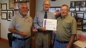Relay for Life Presents Certificate and Trophy