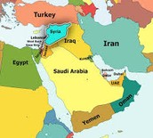 This Is A Picture Of Syria And Other Countries Close To Syria