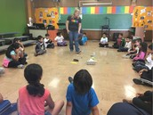 Our awesome music teacher, Ms. Jafari, teaches our Panthers a creative game to practice singing!