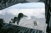 Troops Parachuting
