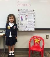 Monday's Star Student, Gianna!
