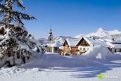 Ski village in the mountains