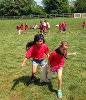 Isabella and Grace showing awesome teamwork!