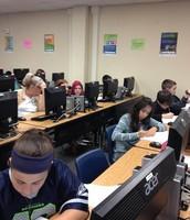 Mrs. Marroquin's ELAR Students Doing Research!