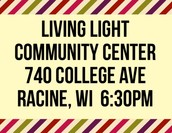 All 6:30pm Location Living Light Community Center