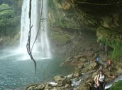 waterfall in palenque mexico