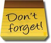 Friendly reminders...