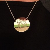 Signature Engraveable Disc Necklace - GOLD OR SILVER
