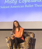 Misty Copeland stopped by for the 2014 summit to share her story