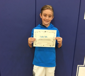 7th Grade Student of the Month for September- Landon