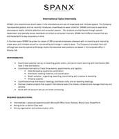 International Sales Internship