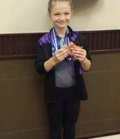 Sarah at the AAU National Gymnastic Meet