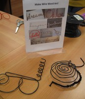 Makerspace with SAPL: Wire Art