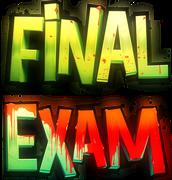 Start preparing for the final exam.
