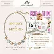 Bella Fiore Collar Necklace Featured in Bridal Guide
