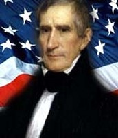 William Harrison #2 (Looking towards you edition with flag background)