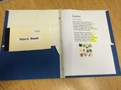 Poetry Folder and Word Book HOMEWORK