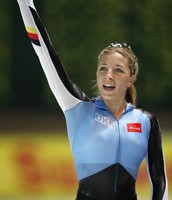 Anni Friesinger an Olympic German 1500m Speed Skater