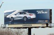 Posterscope Launches Huge Campaign for the Release of Chevy Malibu