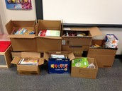 Lots of books donated week of book fair!