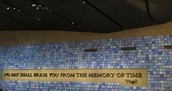 The 911 memorial was very moving