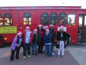 Secondary rode in the trolley in the Arlington Holiday Lights Parade!