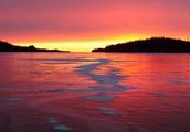 Sunset On Isle Royale's Beaches