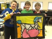They are proud of their stained glass!