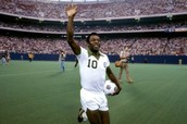 Pele Celebrating a Game for the New York Cosmos