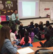 District Math Coach Mr. Jerrell demonstrating a Number Talk