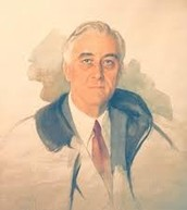 This is a picture that they did not get done when Franklin Delano Roosevelt died