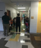 Practicing hallway behavior!